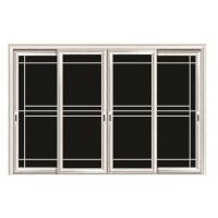 Wholesale Clear Living Room Aluminium Sliding Door Glass With Anodized Silver Aluminium Profile from china suppliers