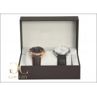 2 Piece Plastic Watch Presentation Box / Cardboard Gift Boxes And Packaging For Women