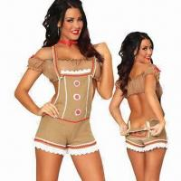 Wholesale Sexy Gingy Costume, Includes Choker, Top and Bottom, with Size from XS to 4XL from china suppliers