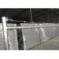 "Wholesale Temporary Chain Link Fence Panels with barb wire 1⅝""(42mm) x16ga thickness 2¼""x2¼""(57mmx57mm) with 10ga /3,00mm dia from china suppliers"
