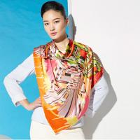 Wholesale 50 g Custom Soft Polyester Silk Fashionable Printed Ladies Neck Scarves for Girls from china suppliers
