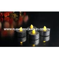 Wholesale Multi Color Custom Tealight LED Battery Candles With Glitter Finish for Wedding Decoration from china suppliers