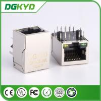 Wholesale Shielded Ethernet RJ45 with Transformer Single Port Telecom Connector, LED's from china suppliers