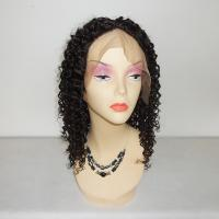 Wholesale 100% Virgin Human Hair  #1b 130% Density Indian Remy Deep Curl Full Lace wigs from china suppliers