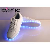 Wholesale Unisex White USB Rechargeable LED light up Casual Shoes Glow Luminous Footwear from china suppliers