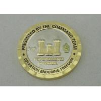 Wholesale 3D Personalized Coins For Operation Enduring Freedom With Nickel And Gold Plating from china suppliers