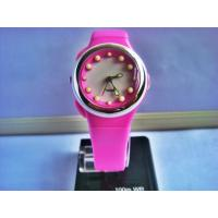 Wholesale Pink Kids Led Analog Watch with EL Light 100M Water Resistant from china suppliers