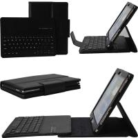Wholesale 10.1 Inches Tablet PC Accessories Removable Keyboard PU Leather Case from china suppliers