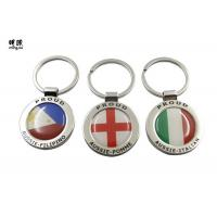 Wholesale Big Epoxy Sticker Metal Key Ring Round Key Tags Two Sides Logo from china suppliers