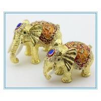 Wholesale Metal Jewelry box with elephant shape from china suppliers