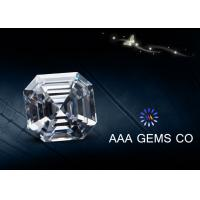 Buy cheap Colorless Asscher Cutting Shape lab created moissanite 4.5 MM Diamone from wholesalers