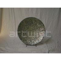 Quality Green Dining Table Ornaments , Hand Paint Resin Art Plate for sale
