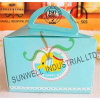 Wholesale Cardboard Paper Lunch / Cake Food Packing Boxes With Handles Triangle Shape from china suppliers
