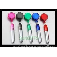 Wholesale Transparent round badge reel with ball pen, promotional gifts from china suppliers