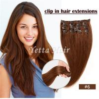 Wholesale Simplicity Pre Bonded Keratin Hair Extensions / Clip In Hair Weave Color 6# from china suppliers