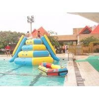 Wholesale 0.9mm Pvc Inflatable Water Parks Tarpaulin Outdoor  Jumping Tower with 2 Slides from china suppliers