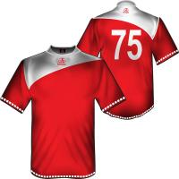 Wholesale Red Short Sleeve Football Shirts Sportswear, Sublimation Soccer Jersey Team Uniforms from china suppliers
