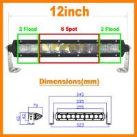 """Wholesale 13.5"""" 5D 60W 5400lm Pro Optic Single Row LED Light Bar Spot Jeep 4WD BOAT ATV 40/42 from china suppliers"""