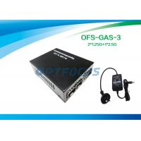 Wholesale 2 × 1.25G to 2.5G Gigabit Fiber Media Converter , SFP to SFP from china suppliers