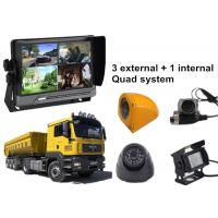 Wholesale Lorry 4 Security Camera Car DVR AHD 3G GPS WIFI Quad Monitor System from china suppliers