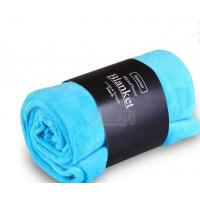 Wholesale Blue / Pink Colorful Coral Custom Fleece Blankets , Polyester Soft Kids Fleece Blanket from china suppliers