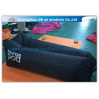 Wholesale Nylon Fabric Black Inflatable Sleeping Bag Lounge Pod Lightweight For Beach from china suppliers