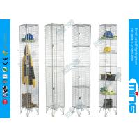 Wholesale Clothing Wire Mesh Lockers / Wire display racks for retail stores from china suppliers