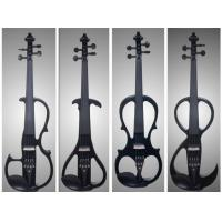Wholesale Black Solid Basswood Left Handed Electric Violin With Inlaid Purfling from china suppliers