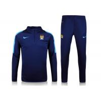 Wholesale Manchester City Comfortable Football Tracksuits Embroidery S M L XL from china suppliers