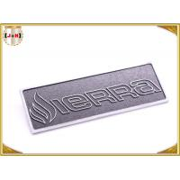Wholesale OEM Service Decorative Shiny Chrome Metal Logo Tags , Zinc Alloy Custom Logo Clothing Labels  from china suppliers
