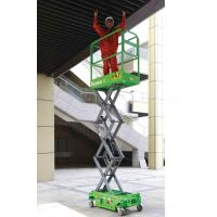 Platform Height Max 3m MINI Manual Pushing Mobile Scissor Lift with Loading Capacity of 240kg