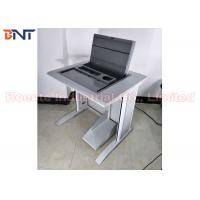 Wholesale University Laboratory Tabletop Hidden Computer LCD Monitor Screen Manual Flip Up Lifting Case from china suppliers