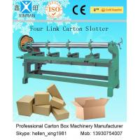 Wholesale Four Link Corrugated Cardboard Box Making Machine / Corrugated Paperboard Slotter from china suppliers