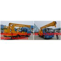 Wholesale factory sale 2018s 14m-16m fold arm type High altitude working platform Aerial truck crane truck with working bucket from china suppliers