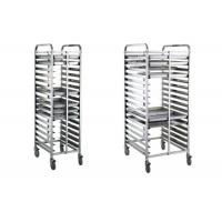 Wholesale Bread Baking Equipment Tray Rack , Stainless Steel Mobile Trolley For Kitchen from china suppliers