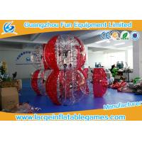 Wholesale Soft Handle Red Inflatable Bubble Ball , Inflatable Bumper Balls For Adults from china suppliers
