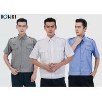 Wholesale Durable Police And Security Guard Uniform Mens Shirts With Two Pockets from china suppliers
