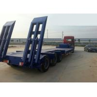 Wholesale Low-bed Semi Trailer Truck 3 Axles 70Tons 15m for Loading construction machine from china suppliers