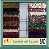 Wholesale Decoration Glitter PVC Synthetic Leather Fabric / Shiny LeatherFabric from china suppliers