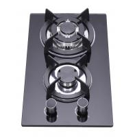 Buy cheap Household LPG 2 Burner Gas Stove Top , Glass Top Two Ring Gas Hob from wholesalers