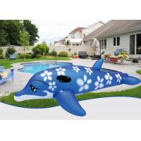 Wholesale Baby Floater PVC Blue Large Inflatable Dolphin Pool Toy For Outdoor Swimming from china suppliers