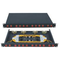 Wholesale Cold rolled steel sheet electrostatic spraying FC12 Rack-Mounted Fiber Optic Patch Panel from china suppliers