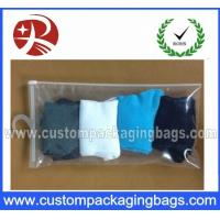 Wholesale Custom Printed Transparent Plastic Hanger Bag With Slider For Socks from china suppliers