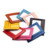 Wholesale Colorful Promotional Leather Card Bag Card Container Logo Customized from china suppliers