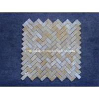 Wholesale Honey Yellow Onyx Marble Stone Mosaic Tile (Herringbone Pattern) from china suppliers