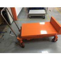 Wholesale Portable Manual Tilting Scissor Lift Table Four Wheels Running For Warehouse from china suppliers
