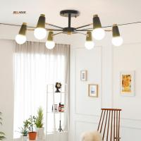 Buy cheap Simple chandeliers wrought iron living room bedroom study children 's room store Nordic lighting office lights led lamps from wholesalers