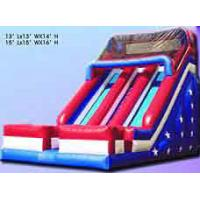 Wholesale Durable Inflatable Sports Games , Fun PVC Tarpaulin Bouncer Slide For Kids from china suppliers