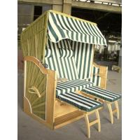 Wholesale Luxury 2 Seat Yellow Roofed Wicker Beach Chair & Strandkorb For Hotel Garden from china suppliers