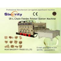Buy cheap Flexo Printing Slotting Machine , Automatic Corrugated Box Making Plant from wholesalers